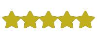 Goldene Sterne für die Bewertungen